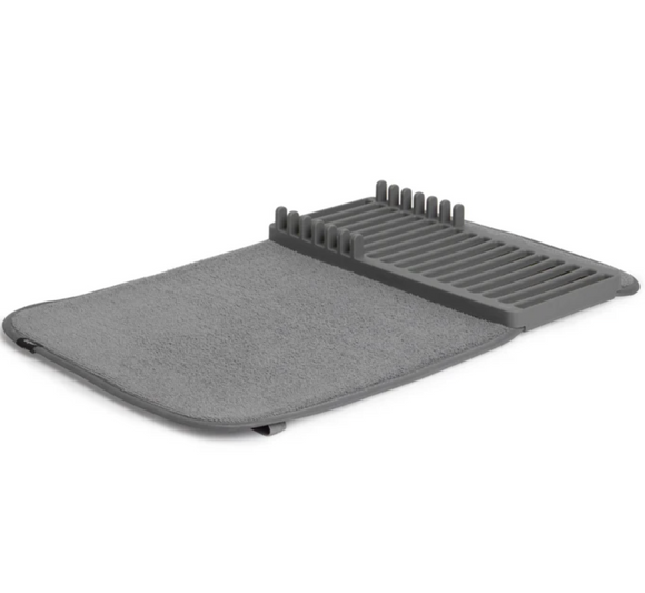 Umbra Dish Drying Rack & Mat In One – Charcoal