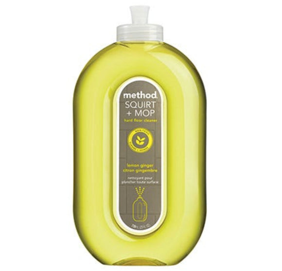 Method Squirt + Mop Hard Floor Cleaner - Lemon Ginger – 25oz