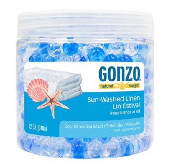 Gonzo  Fragrance Gel Beads – Sun Washed Linen – 12oz.