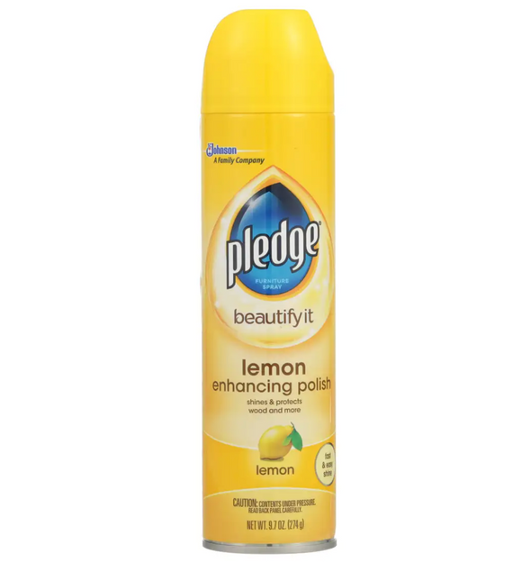 Pledge Furniture Polish – Lemon – 9.7-oz.