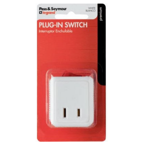 15A Plug In Cord Switch – White