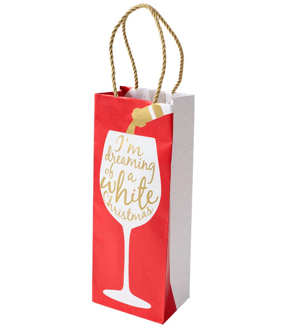 Caspari Wine Christmas – Wine & Bottle Gift Bag