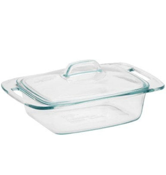 Easy Grab Rectangle Casserole With Cover – 2-Qt.