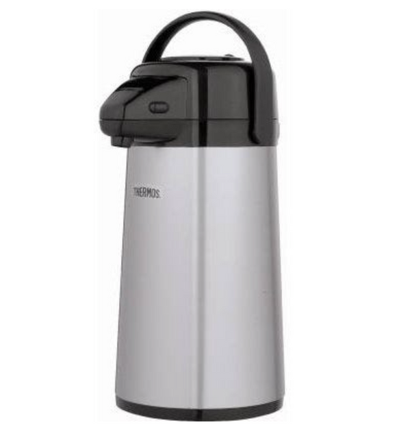 Pump Carafe With Swivel Base And Metallic Finish – 2-Qts.