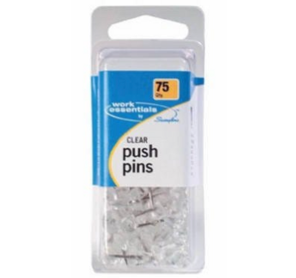Clear Push Pin – 75-Ct.