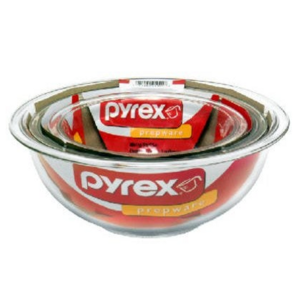 Mixing Bowl Set – Clear – 3-Pc.