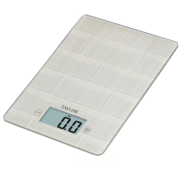 Subway Tile Digital Kitchen Scale – Glass