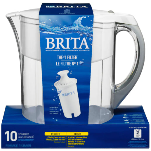 Brita Large 10 Cup Water Filter Pitcher – White