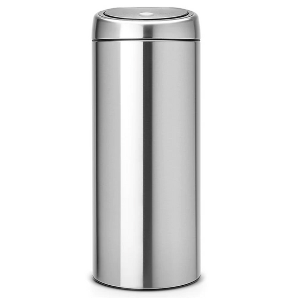 Brabantia Touch Bin Trash Can – Brushed Stainless – 8 Gallon