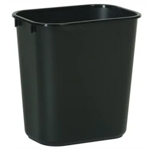 Rubbermaid Office Rectangle Wastebasket – Black – 28-1/8-Qts.