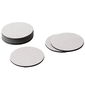 Copy of Caspari Canvas Felt-Backed Coasters – Linen - Set of 8