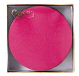 Caspari Canvas Felt-Backed Coasters – Fuchsia - Set of 8