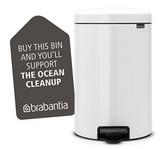 Brabantia NewIcon Step Trash Can – White – 1.3 Gal
