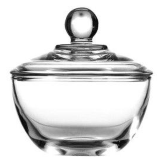 Glass Sugar Bowl and Cover – 8 Ounces