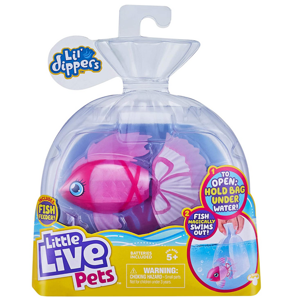 Little Live Pets Lil' Dippers - Water Activated Fish  – Assorted Colors Based on Availability at Time of Shipping