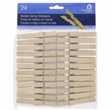 Wood Clothespins - Spring Close – 24 Pack