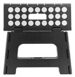 Kikkerland Small Folding Step Stool – Black