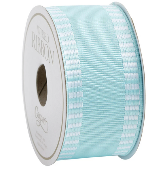 Caspari Light Blue Wired Ribbon - 6 Yard Spool