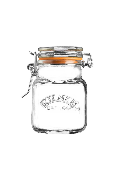 Kilner Glass Clip Top Square Spice Jar – 2.3oz
