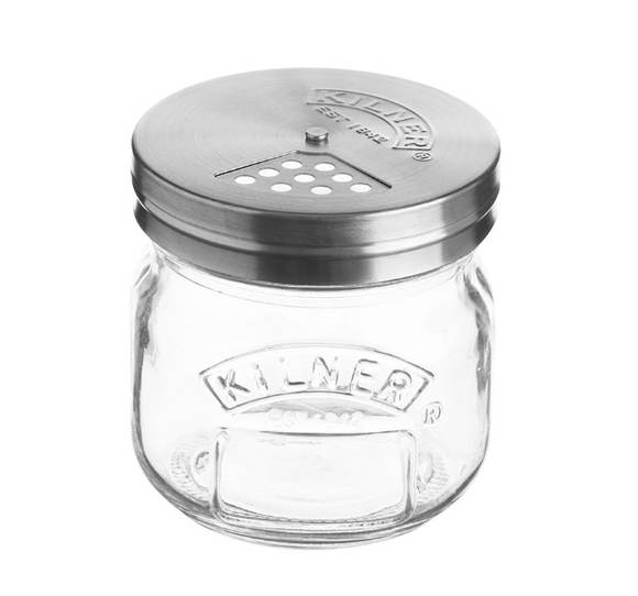 Kilner Glass Storage Jar With Shaker Lid – 8.4oz