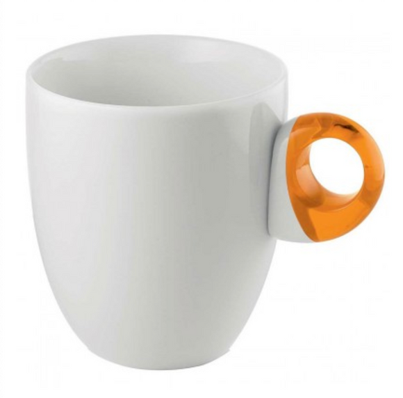 Guzzini Porcelain Feeling Mug – Orange