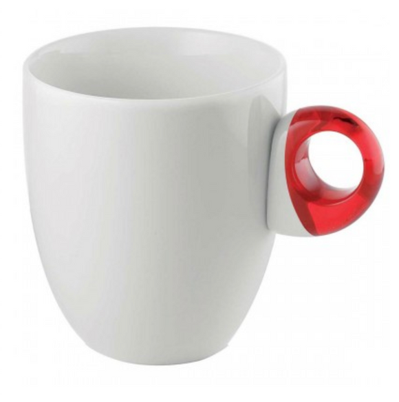 Guzzini Porcelain Feeling Mug – Red