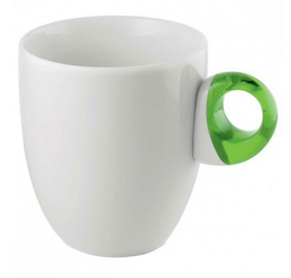 Guzzini Porcelain Feeling Mug – Acid Green