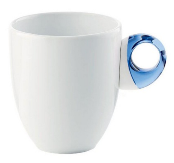 Guzzini Porcelain Feeling Mug – Blue