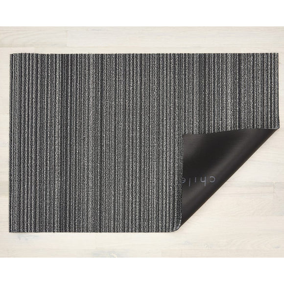 Chilewich Shag Skinny Stripe Doormat – Shadow – 18