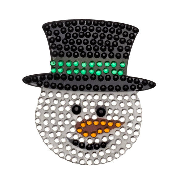 StickerBeans Snowman Sparkle Sticker – 2