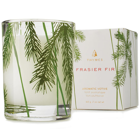 Thymes Frasier Fir Poured Candle with Needle Deco – 6.5oz