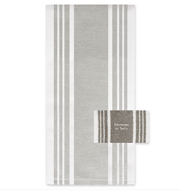 All-Clad Striped Dual Kitchen Towel – Titanium