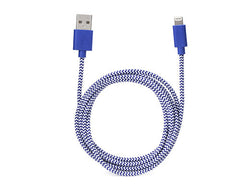 Kikkerland iPhone Cotton Braided Charging Cable – Blue