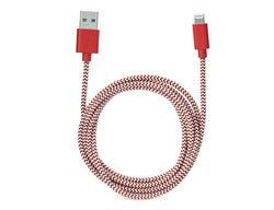 Kikkerland iPhone Cotton Braided Charging Cable – Red