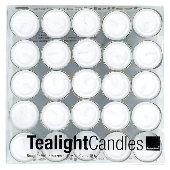 White ClearCup Tealights – Box of 50