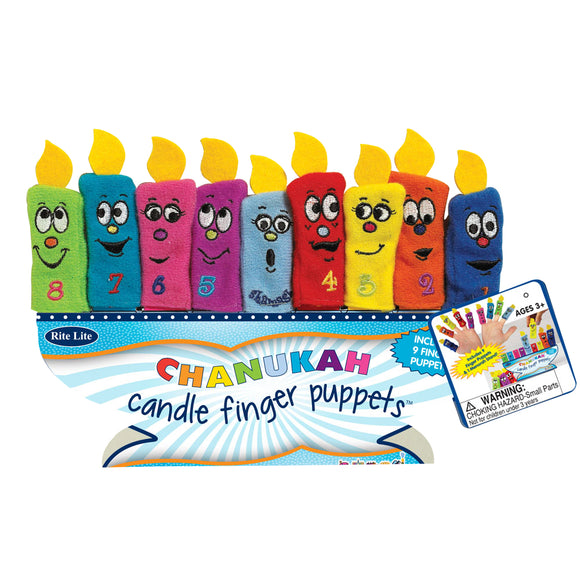 Chanukah Candle Finger Puppets – Set of 9