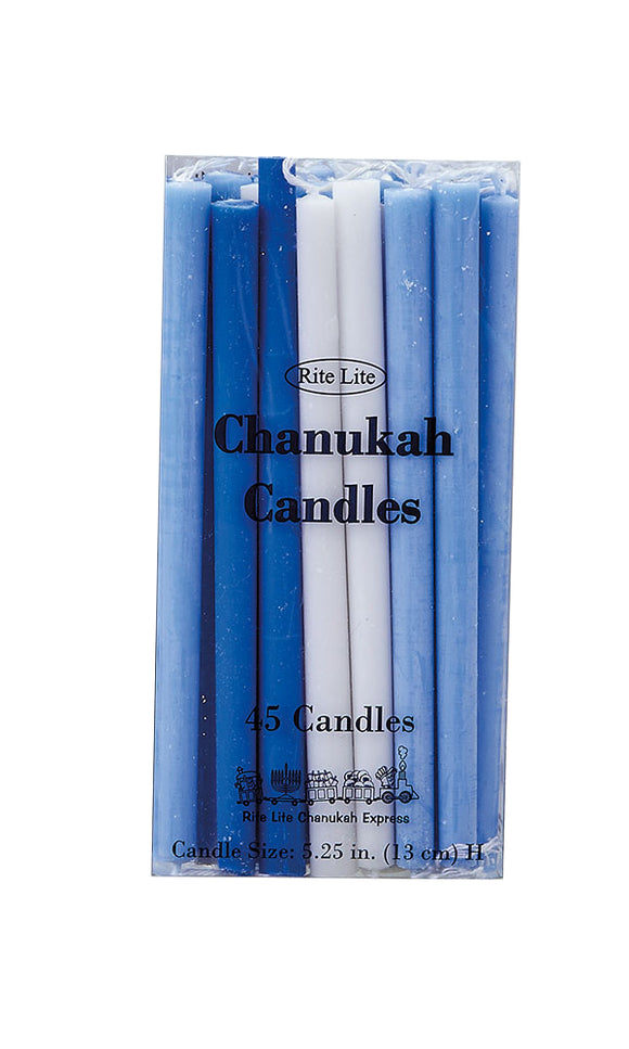 Rite Lite Deluxe Chanukah Candles – Assorted Blue – 45 pack