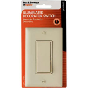 Decorator Single Pole Switch – Ivory