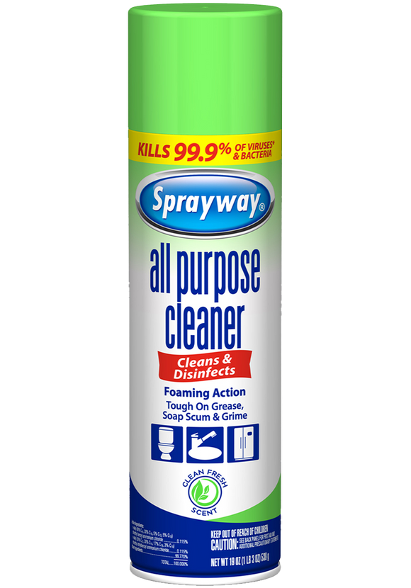 Sprayway All Purpose Cleaner Aerosol Spray – 19oz