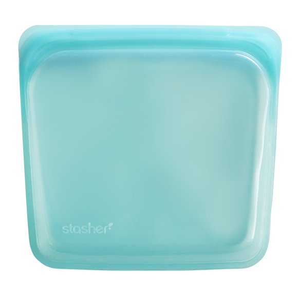 Stasher Reusable Silicone Sandwich Bag – Aqua