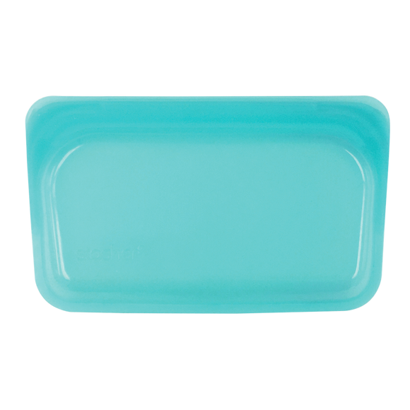 Stasher Reusable Silicone Snack Bag – Aqua