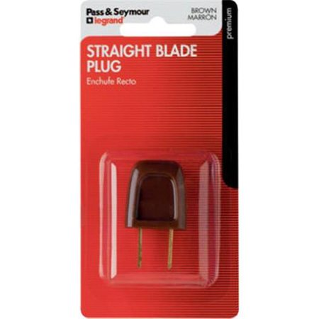 Straight Blade Easy Electrical Plug – Brown