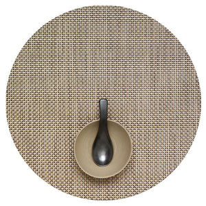 Chilewich Basketweave Round Placemat – Latte