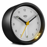 Braun Classic Alarm Analogue Clock – Black/White