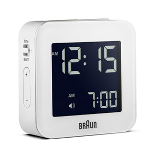 Braun Digital Travel Alarm Clock – White