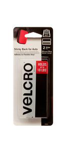 VELCRO® Heavy Duty Sticky Back Strips – Black – 10lb – Pack of 2
