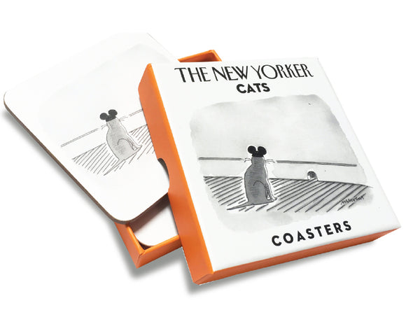 Set of 4 New Yorker Coasters- Cats