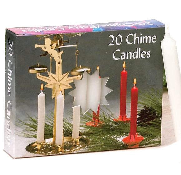 Chime or Tree Candles – 20 Box Count – White