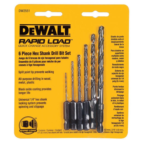 Hex Shank Drill Bit Set – 6 Piece