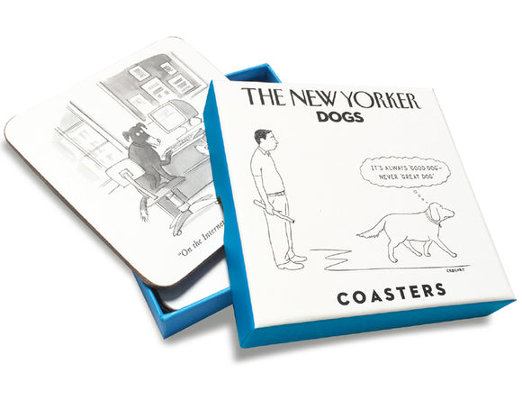 Set of 4 New Yorker Coasters- Dogs